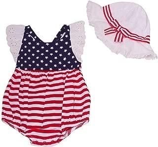 Bonnie Jean Baby Girls' July Fourth Bubble Hat Set