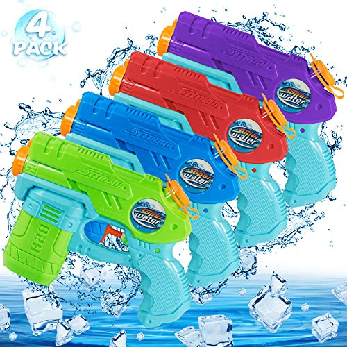 Juguete Pistola De Agua NiñOs,Pistola PequeñA,para Al Aire Libre, Piscina, Fiesta,Chorro de Agua Verano Juguetes de Agua Juego para Niños Adultos (4 Pack)