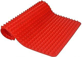 ZHEBEI Tapis de cuisson anti-adhésif, tapis de cuisson pour four, plaque de cuisson rouge