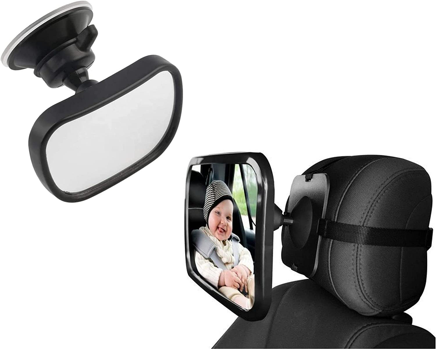 ZogeeZ Baby Car Mirror Set Rear Translated Rest Year-end gift Head Mirrors Wide View -