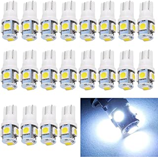 EverBright 20-Pack DC 24V White T10 194 168 2825 W5W 5050 5-SMD LED Bulb For Car Replacement Interior Lights Clearance Wed...