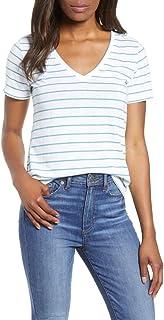 Lucky Brand womens VENICE BURNOUT V-NECK SHIRTAIL TEE T-Shirt