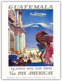 Guatemala is Only One Day Away - Pan American World Airways (PAA) - Vintage Airline Travel Poster by Paul George Lawler c....