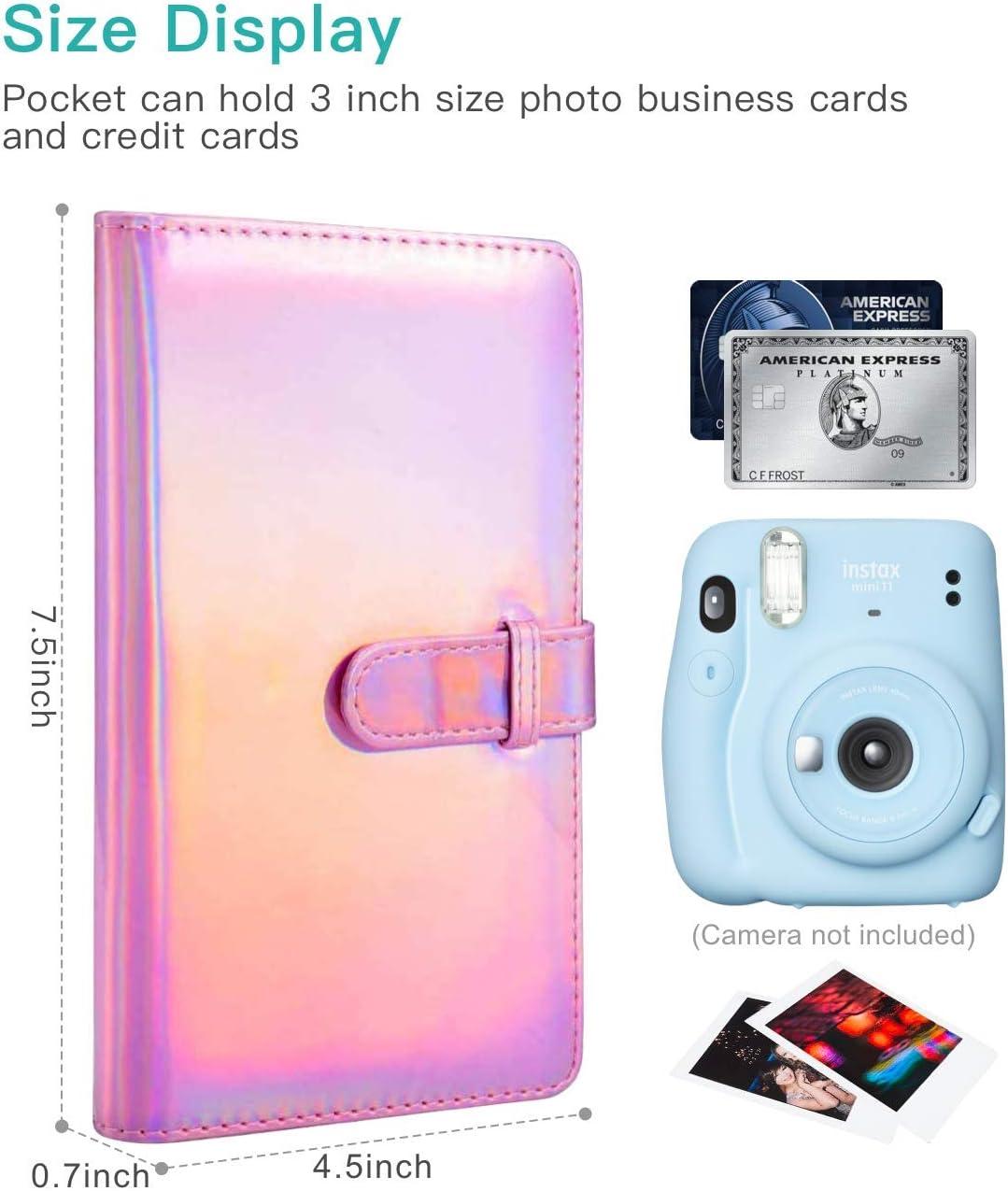 Mini Photo Album Portable Wallet Photo Album Pink Goodsnetic 96 Pockets Mini Album Compatible with Fujifilm Instax Mini 7s 8 8+ 9 25 26 50s 70 90 Film Polaroid PIC-300 Z2300 Film Instant Camera