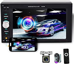 $48 » 6.2 Inch Touchscreen Car Stereo Double Din Car Radio with Bluetooth FM Reciever, USB SD Crad AUX Input Port, Support Mirro...