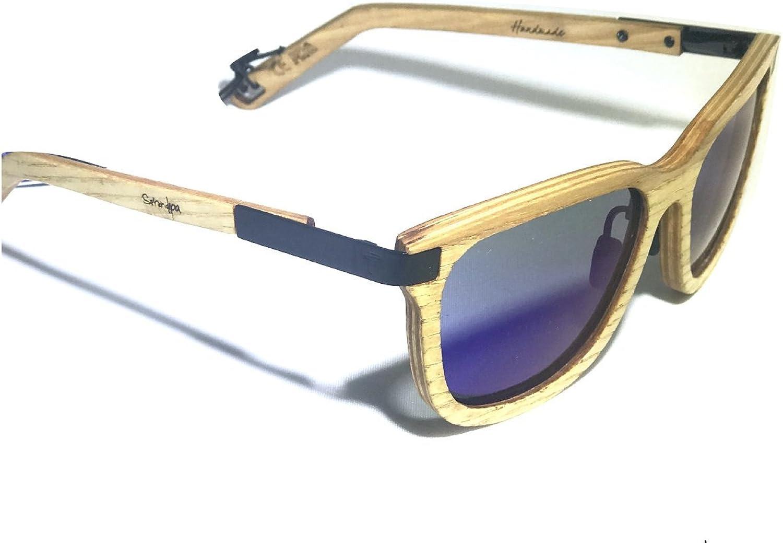 SERENDIPIA BY FENTO, Specta Design Ash Wood Polarized Grey Lenses ,Wooden sunglasses, Fento, Handmade Sunglasses, Polarized sunglasses for women.