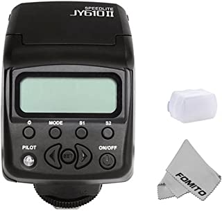 Fomito® MINIカメラフラッシュ SONYA6000 対応 マイクロ・一眼レフカメラ A7R対応 ミニA7IIカメラ対応 発光回数100~680 Canon,Nikon,Sony通用