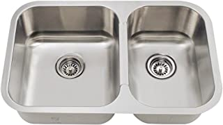 530L 18-Gauge Undermount Offset Double Bowl Stainless Steel Kitchen Sink