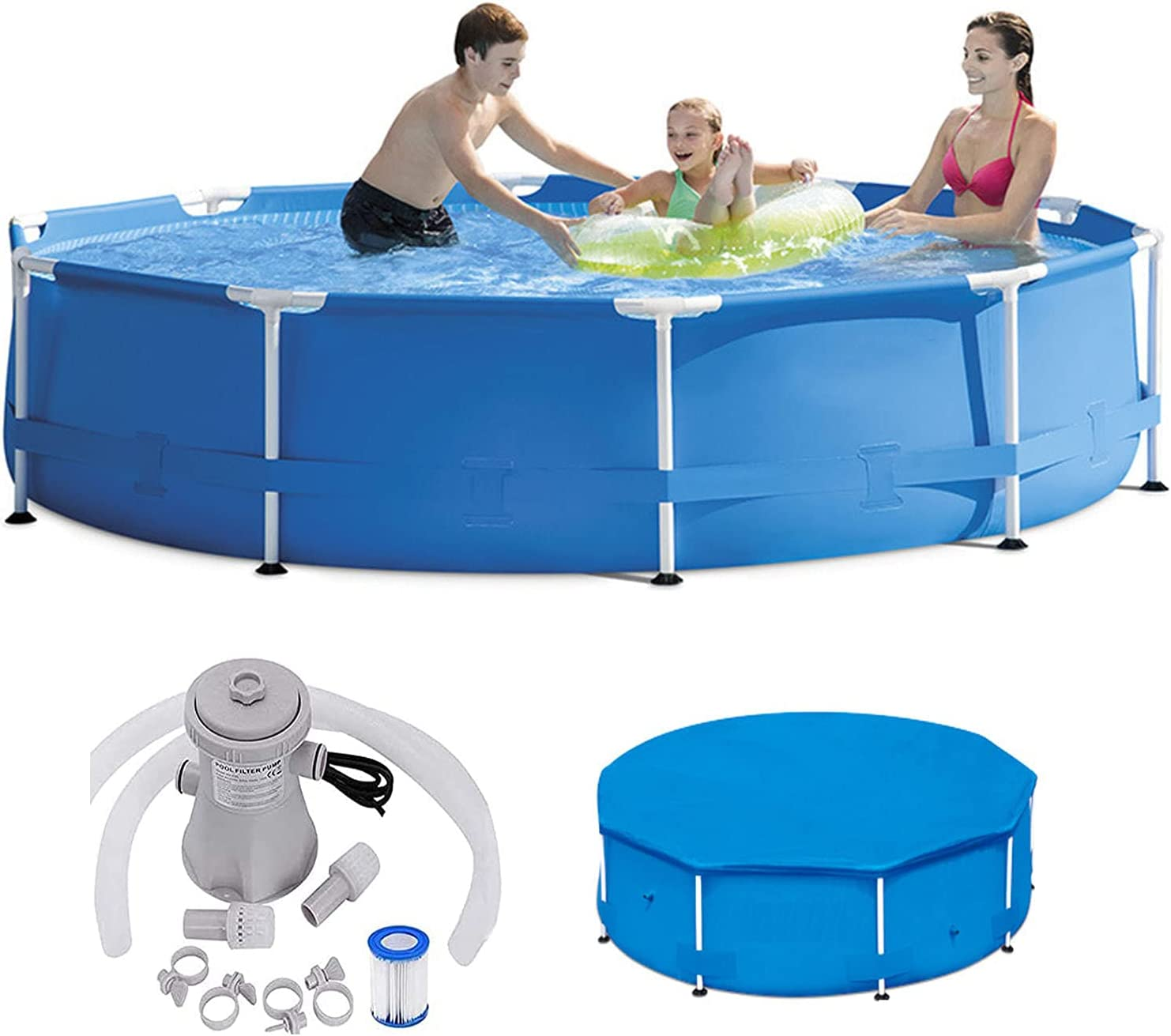 Pool Above Ground Round Challenge the lowest price Swimm Frame Metal Prism Discount mail order
