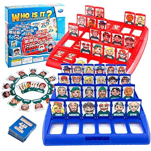 FENGLI ¿Quién es el juego para niños, retro adivina quién juego de mesa, juego de adivinación del misterio, niño niño interactivo juego juguetes para juguetes para la fiesta familiar de año nuevo de N
