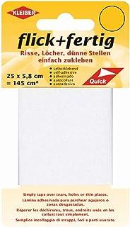 Kleiber 43074 Flick + färdig självhäftande nylon mjukgörande kuddar, 100% polyamid, vit 25 x 5,8 x 0,02 cm, (145 cm²)