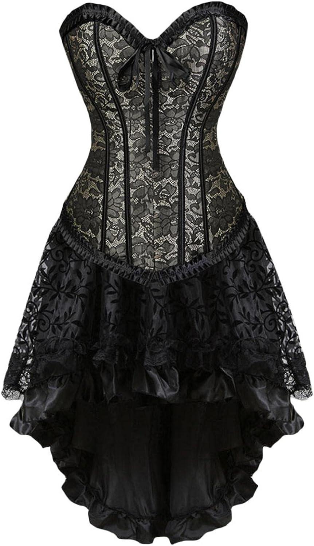 Black Arlington Mall Lace Corsets for Women Vintage Princess [Alternative dealer] Corset Renaissance
