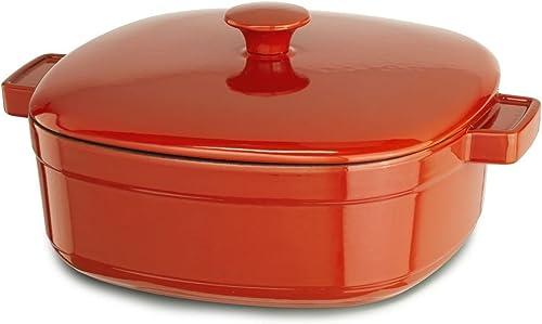 2021 KitchenAid Streamline Cast Iron lowest 3-Quart sale Casserole Cookware - Autumn Glimmer outlet online sale