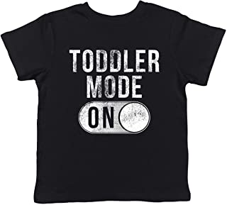 Toddler Mode On T Shirt Funny Kids Top Back to School Cool Novelty Gift