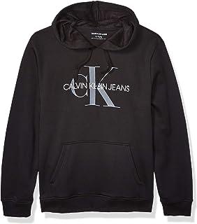 Men's Fleece Hoodie Logo Pop Over Sweatshirt