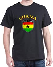 CafePress Black Stars of Ghana Classic 100% Cotton T-Shirt