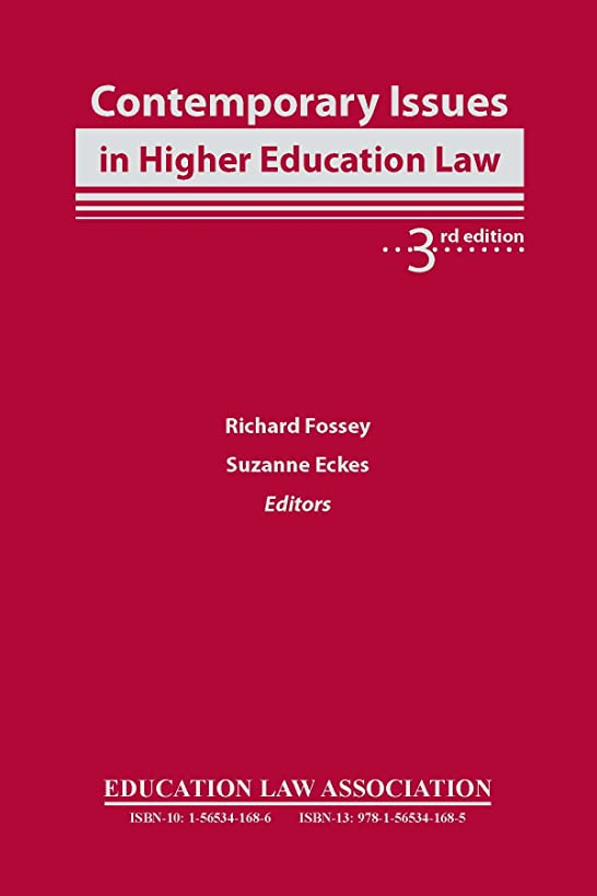 Contemporary Issues in Higher Education Law, 3rd edition
