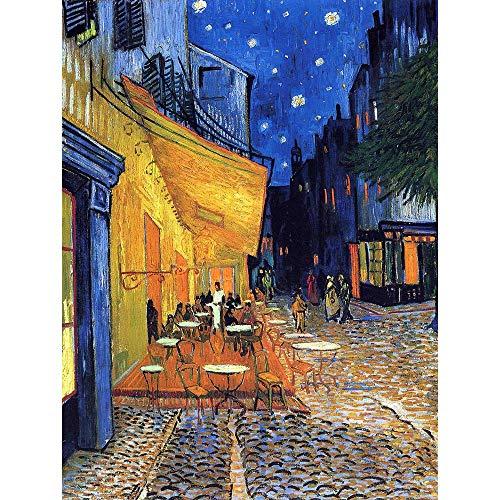 Wee Blue Coo Vincent Van Gogh Cafe Terrace Place Du Forum Arles 1888 Art Print Poster Wall Decor 12X16 inch