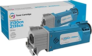 LD Compatible Toner Cartridge Replacement for Dell 330-1437 T107C High Yield (Cyan)