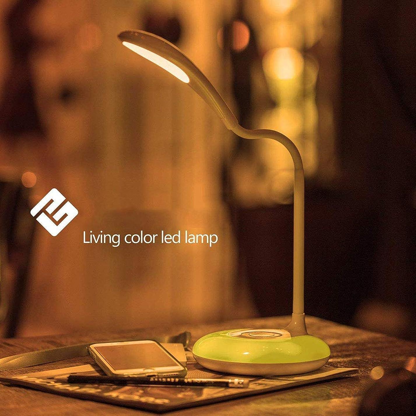 終わりゼリー壊すLEDデスクランプ、USB充電ポート付きアイケアテーブルランプ、3つの明るさレベル、タッチコントロール、調節可能なグースネック、カラーナイトライト