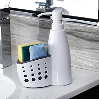 Kookee™ Kitchen Sink Organizer Storage for Dishwashing Brush, Wiping Cloth, Soap, Sponge Sink Caddy with Liquid Soap Dispe...