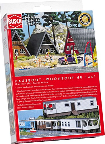 Busch 1441 – Maison Bateau, véhicule, Blanc