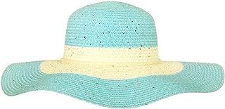 Chic Headwear Large Paper Braid Floppy Sun Hat - Turquoise