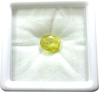 Certified Yellow Sapphire/Pukhraj 11.25 Ratti Lab Certified Good Quality Natural Pukhraj Gemstone for Astrological Purpose by GEMS HUB