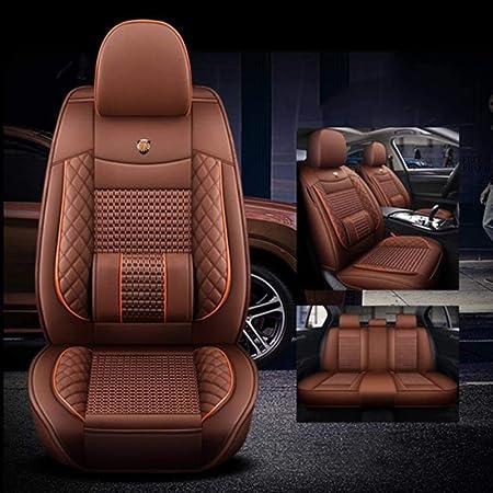 Luolong Autositzbezüge Leder Eisseide 5 Sitze Autositzbezüge Für Bmw E46 E36 E90 E60 X5 E53 E70 F30 F11 X3 E83 X1 E34 F20 F10 Sitzbezüge Leder Kompatibel Mit Airbags Coffee No Polliw Amazon De
