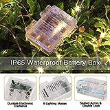 LED Lichterkette Batterie, otumixx 2er 10M 100 Micro LED Lichterkette 8 Modi Batteriebetrieben Kupferdraht Wasserdicht IP68 mit Fernbedienung und Timer für Innen/Außen Weihnachten Deko, Warmweiß - 7