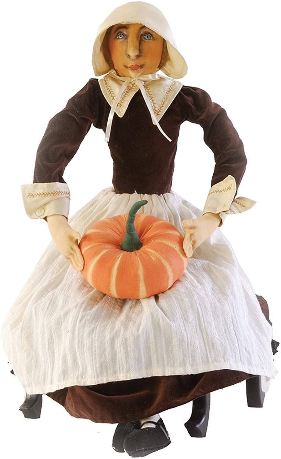 Gallerie II Gathered Traditions Prudence Pilgrim Collectible Figurine, Brown
