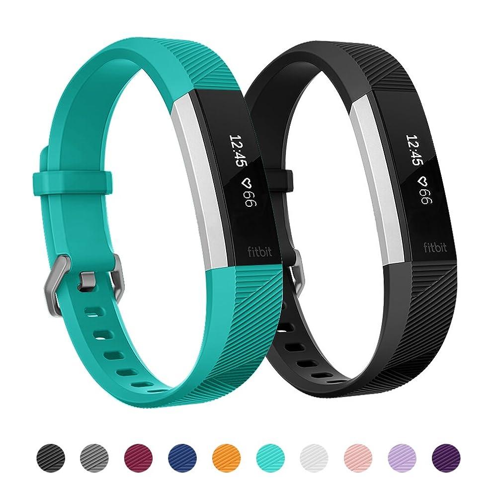 高潔な残る採用Kutop Fitbit Alta HRバンド、柔らかいシリコン調節可能腕時計フィットネスリストバンド for Fitbit Alta HR/Fitbit Alta