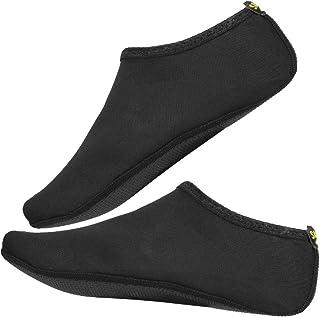 FAMKIT, Zapatos de playa 1 par mujeres hombres playa piel zapatos natación deporte verano transpirable calcetines