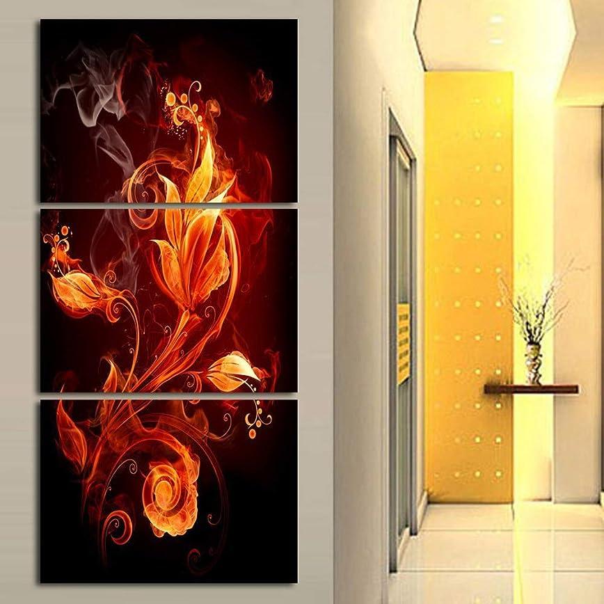 ギャングスター横(フレーム付き30 * 45cm * 3) インクジェット塗装装飾塗装トリプル抽象火花壁塗装研究ぶら下げ絵画ポーチ壁画 インテリア