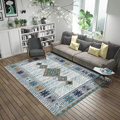 HXJHWB Alfombra Pasillo Cocina Diseño - Creativo geométrico Abstracto Simple 3D Impreso Alfombra Sala de Estar Estudio sofá Mesa de Centro-Los 50CMx80CM