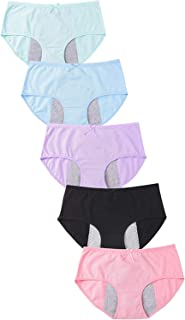 Auslese™ Cotton Period Panties Menstrual Leak Proof Protective Briefs for Teen Girls Women Free Size Assorted Colours