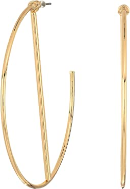 Hoop Earrings with Stick