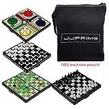 JJPRIME - 4 Juegos de Mesa de Viajes clásicos, Divertidos y...