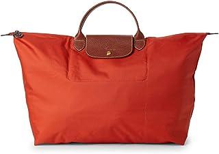 LONGCHAMP Le Pliage Nylon Travel Top Handle Bag, Orange