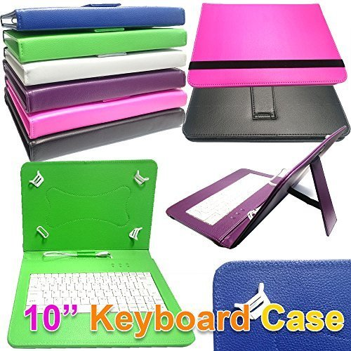 DYYSELLS 10 UK Key TAO BLUE-21 10.1 inch PU Leather Keyboard Case Stand for Alba 10 Inch 16GB Android Tablet UK Layout