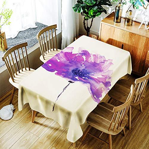 XXDD Mantel de Flores Creativo 3D Pintura Colorida patrón de Flores pintadas cómodo Mantel Impermeable para el hogar A9 135x135cm