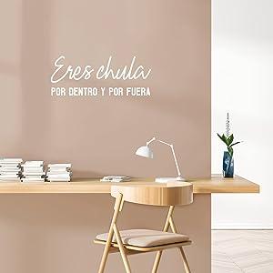 Vinyl Wall Art Decal - Eres Chula Por Dentro y Por Fuera - 10