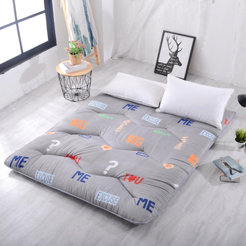Foldable Mattress,Tatami Double Cool Pad Thick Cartoon Sleeping Mat-K 90x200cm(35x79inch)