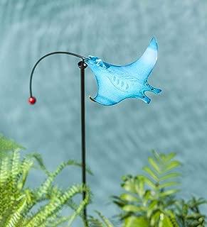 Wind & Weather Metal Sea Life Balancer Garden Stake - Blue