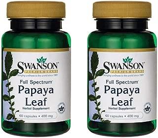 Swanson Full Spectrum Papaya Leaf 400 mg 60 Caps 2 Pack