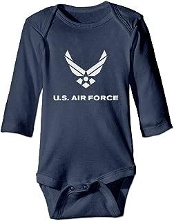 US Air Force Long Sleeve Baby Onesie Rompers Bodysuit for Toddler
