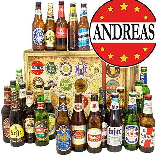 Andreas - 24 Biere aus der Welt - Andreas Geschenke - Kalender Weihnachten Bier