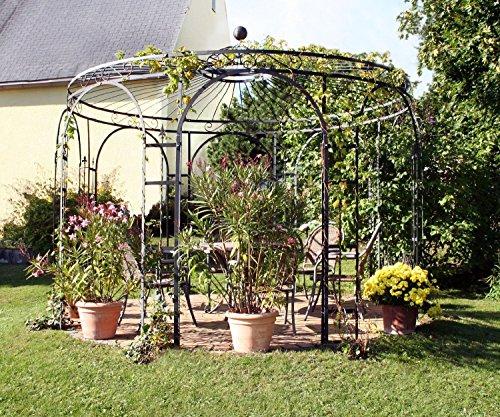 Mpire Pavillon Garten, Metallpavillon, Gartenlauben, Rosenpavillon, Pavillon Stabil Holland Ø 350 cm (Verzinkt)
