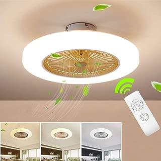 SLZ Ceiling Fan with Lighting, LED Fan Ceiling Fan, 36 W, Ceiling Lighting, dimmable with Remote Control, 3 Files, Adjustable Wind Speed, Modern bedroom58CM,Gold
