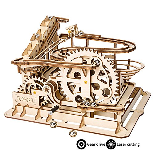 ROKR Puzzle 3D Madera Mechanical Gears DIY Building Kit Modelo mecánico Kit de...